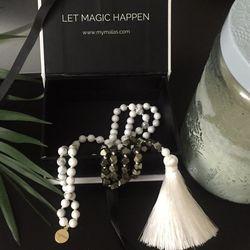 Peace & Prosper Mala Meditation Bead Necklace