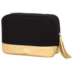Black and Gold Cabana Cosmetic Bag
