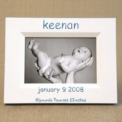 Hand Painted Birthdate Picture Frame