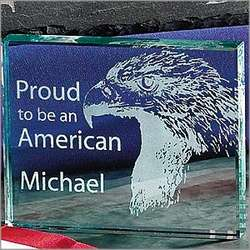 American Pride Glass Paperweight