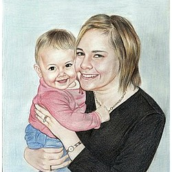 Your Photo as a Hand Drawn Color Pencil Sketch