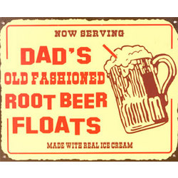 Dad's Rootbeer Floats Metal Sign