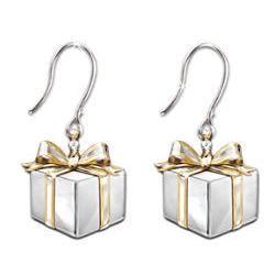 Gift of Love Sterling Silver and Diamond Earrings
