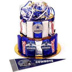 Dallas Cowboys Candy Bar Cake