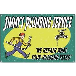 Personalized Vintage Plumbing Service Husband Sign