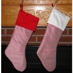 Pinstripe Base Traditional Christmas Stocking