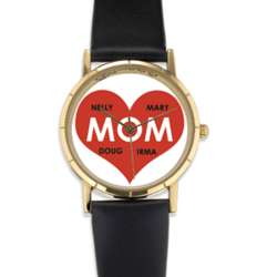 Personalized Mom Red Heart Watch