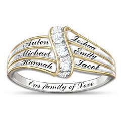 Our Family of Love Personalized Diamond Ring