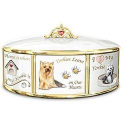 I Love My Dog Porcelain Music Box