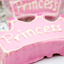 Personalized Pink Princess Crown Rice Krispy Treat