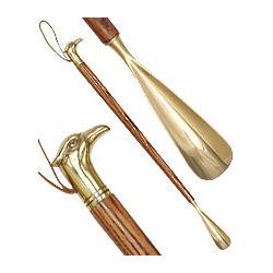 Brass Eagle Head Ash Wood Shoe Horn