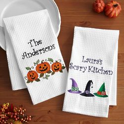Personalized Halloween Embroidered Hand Towel