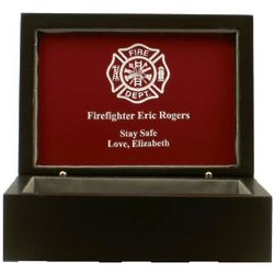 Firefighter's Keepsake Box