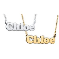 Personalized Bubble Nameplate Necklace