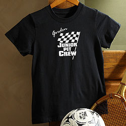 Personalized Pit Crew Car Racing Kid's T-Shirt