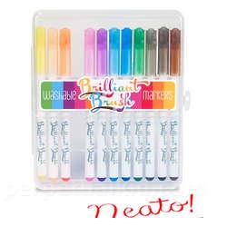 Brilliant Brush Washable Markers