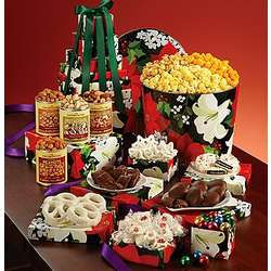 Winter Floral Snack Tin and Gift Tower