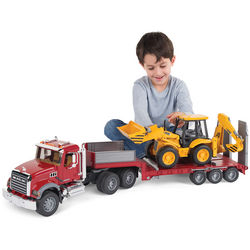 Mack Truck with Backhoe Loader