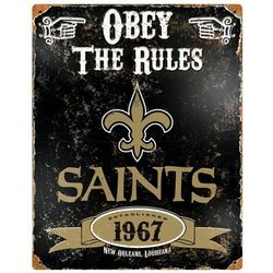 New Orleans Saints Vintage Metal Sign