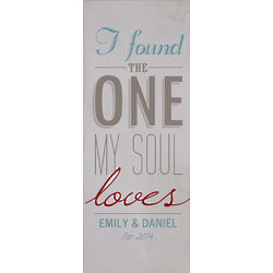 Personalized Found the One My Soul Loves Wall Canvas
