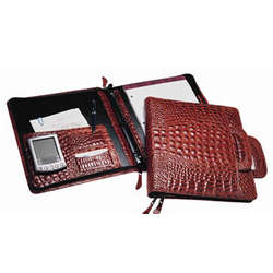 Leather Business Case Binder