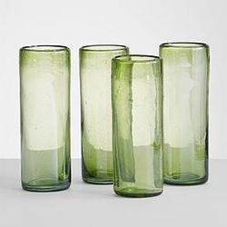 Green Recycled Highball Glasses