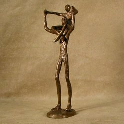 Proud Father Bronze Sculpture