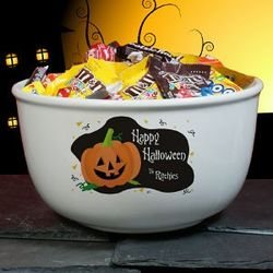 Personalized Trick or Treat Bowl