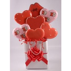 Sweet Heart Hand Decorated Cookie Bouquet