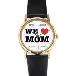 Personalized We Heart Mom Watch