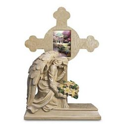 Thomas Kinkade Eternal Light Cross Memorial Sculpture