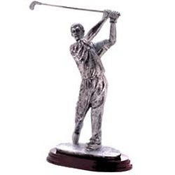 Pewter Male Golfer Sculpture