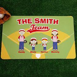 Personalized Baseball Buddies Doormat
