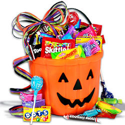 Candy-O-Lantern Halloween Treat Basket