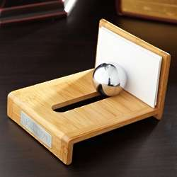 Personalized Bamboo Desk Card Holder