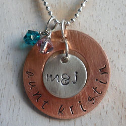 My Favorite Aunt Personalized Hand Stamped Necklace