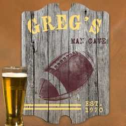 Vintage Football Personalized Bar Sign