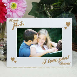 Engraved PS I Love You White Frame