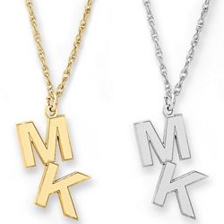 Personalized Two Letter Initial Pendant