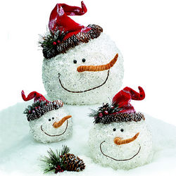 Assorted Snowman Face Decor