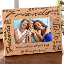 Personalized Friends Custom Wood Picture Frame