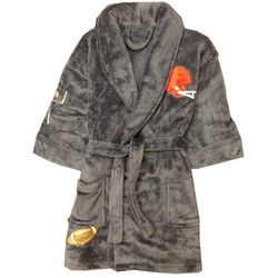 Football Appliqued Plush Boy's Bathrobe