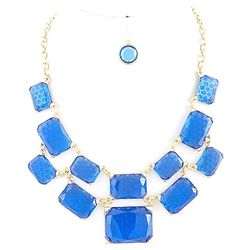 Blue Honey Comb Jewelry Ensemble