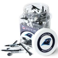 Carolina Panthers Jar with 175 Multi-Colored Tees