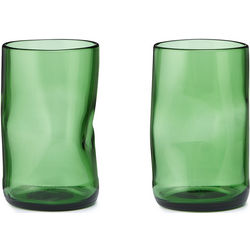 Upcycled Beer Bottle Glass Tumblers
