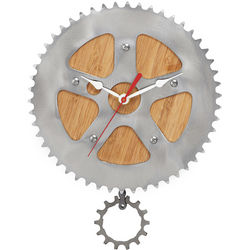 Bamboo Bike Wall Clock
