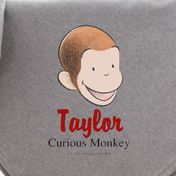 Personalized Curious George Blanket