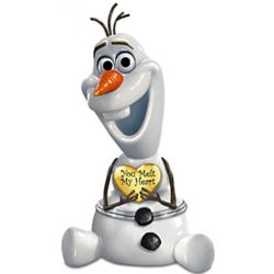 Granddaughter, You Melt My Heart: Frozen Olaf Porcelain Music Box