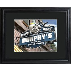 San Diego Chargers Personalized Tavern Print in Matted Frame