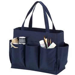 Navy Carry All Tote Bag